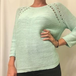 Sea-foam green lightweight sweater from H&M.
